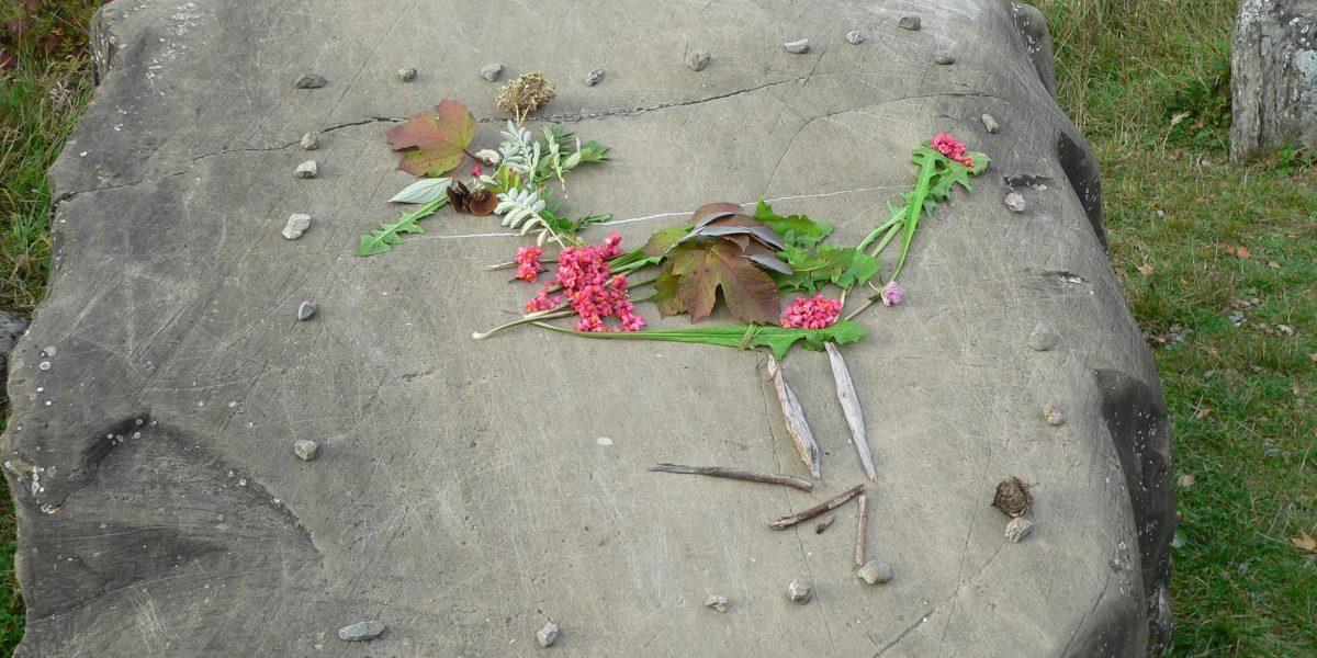 LandArt Blütenvogel