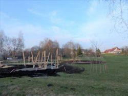 Naturparcours im Aufbau Naturschutzzentrum Wilhelmsdorf