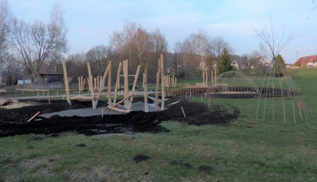 Naturparcours im Aufbau am Naturschutzzentrum Wilhelmsdorf